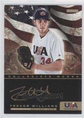 2012 Panini USA Baseball National Team - Collegiate National Team Collegiate Marks #22 - Trevor Williams /100