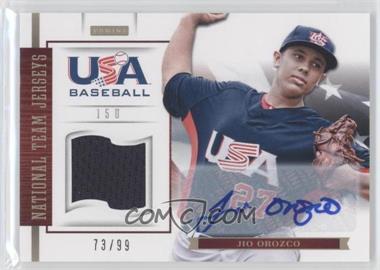 2012 Panini USA Baseball National Team 15U National Team Jerseys Signatures [Autographed] #15 - Jio Orozco /99