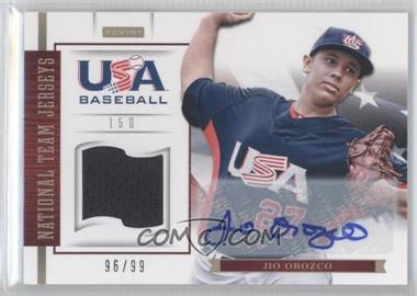 2012 Panini USA Baseball National Team 15U National Team Jerseys Signatures [Autographed] #15 - Jio Orozco /99