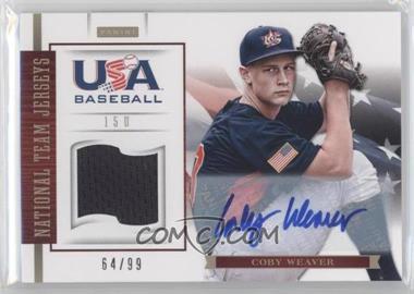 2012 Panini USA Baseball National Team 15U National Team Jerseys Signatures [Autographed] #20 - Coby Weaver /99