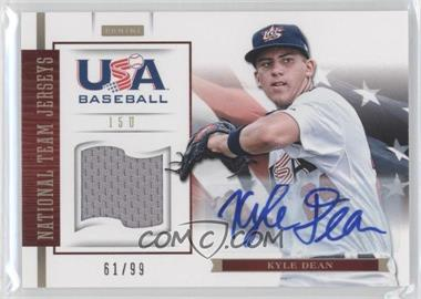 2012 Panini USA Baseball National Team 15U National Team Jerseys Signatures [Autographed] #8 - Kyle Dean /99