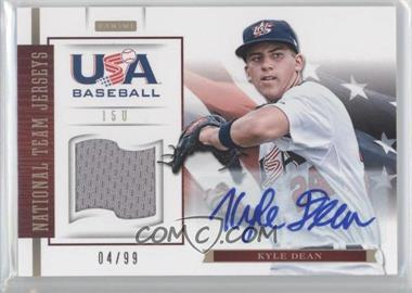 2012 Panini USA Baseball National Team 15U National Team Jerseys Signatures [Autographed] #8 - Kyle Dean /99