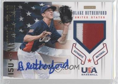 2012 Panini USA Baseball National Team 15U National Team Patches Signatures [Autographed] #17 - Blake Rutherford /35
