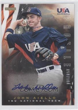 2012 Panini USA Baseball National Team 15U National Team Profile #1 - John Aiello /100