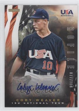2012 Panini USA Baseball National Team 15U National Team Profile #20 - Coby Weaver /100