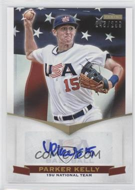 2012 Panini USA Baseball National Team 15U National Team Signatures #12 - Parker Kelly /299