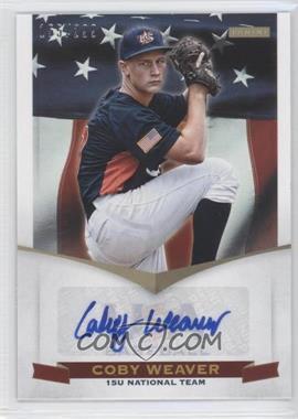 2012 Panini USA Baseball National Team 15U National Team Signatures #20 - Coby Weaver /299