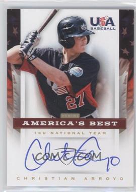 2012 Panini USA Baseball National Team 18U National Team America's Best #CA - Christian Arroyo /100
