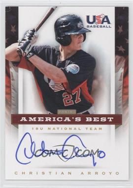 2012 Panini USA Baseball National Team 18U National Team America's Best #CA - Christian Arroyo /100
