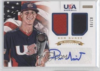 2012 Panini USA Baseball National Team 18U National Team Dual Jerseys Signatures [Autographed] #13 - Dom Nunez /99