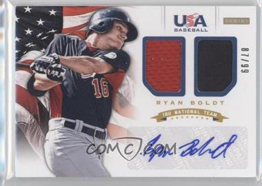 2012 Panini USA Baseball National Team 18U National Team Dual Jerseys Signatures [Autographed] #4 - Ryan Boldt /99