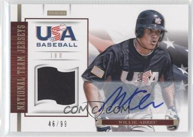 2012 Panini USA Baseball National Team 18U National Team Jerseys Signatures [Autographed] #1 - Willie Abreu /99
