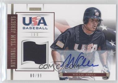 2012 Panini USA Baseball National Team 18U National Team Jerseys Signatures [Autographed] #1 - Willie Abreu /99