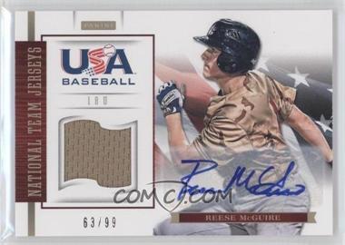 2012 Panini USA Baseball National Team 18U National Team Jerseys Signatures [Autographed] #12 - Reese McGuire /99