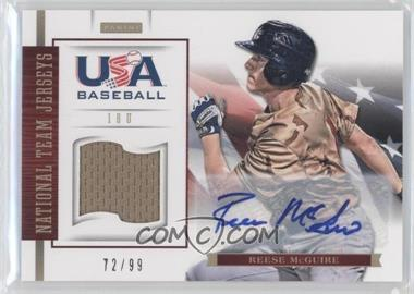 2012 Panini USA Baseball National Team 18U National Team Jerseys Signatures [Autographed] #12 - Reese McGuire /99