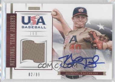 2012 Panini USA Baseball National Team 18U National Team Jerseys Signatures [Autographed] #17 - Dominic Taccolini /99