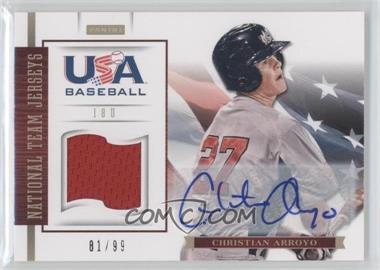 2012 Panini USA Baseball National Team 18U National Team Jerseys Signatures [Autographed] #2 - Christian Arroyo /99