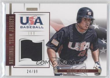 2012 Panini USA Baseball National Team 18U National Team Jerseys #1 - Willie Abreu /99
