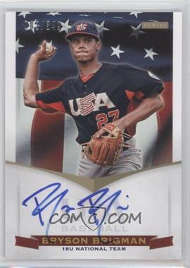 2012 Panini USA Baseball National Team 18U National Team Signatures #BB - Bryson Brigman /349