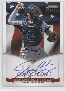 2012 Panini USA Baseball National Team 18U National Team Signatures #JM - Jeremy Martinez /349