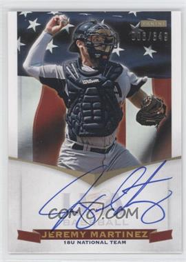 2012 Panini USA Baseball National Team 18U National Team Signatures #JM - Jeremy Martinez /349