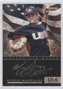 2012 Panini USA Baseball National Team Collegiate National Team Collegiate Marks #10 - Marco Gonzales /100