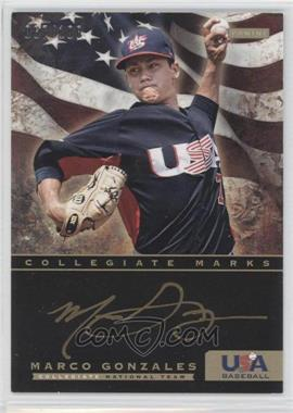 2012 Panini USA Baseball National Team Collegiate National Team Collegiate Marks #10 - Marco Gonzales /100