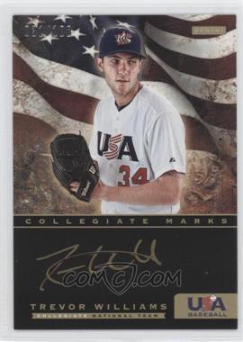 2012 Panini USA Baseball National Team Collegiate National Team Collegiate Marks #22 - Trevor Williams /100