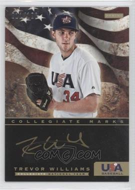 2012 Panini USA Baseball National Team Collegiate National Team Collegiate Marks #22 - Trevor Williams /100