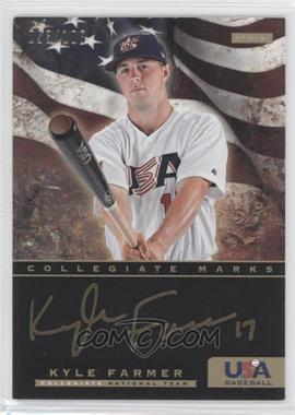 2012 Panini USA Baseball National Team Collegiate National Team Collegiate Marks #7 - Kyle Farmer /100