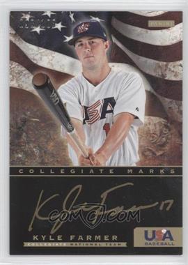 2012 Panini USA Baseball National Team Collegiate National Team Collegiate Marks #7 - Kyle Farmer /100