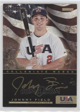 2012 Panini USA Baseball National Team Collegiate National Team Collegiate Marks #8 - Johnny Field /100
