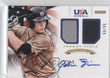 2012 Panini USA Baseball National Team Collegiate National Team Dual Jerseys Signatures [Autographed] #8 - Johnny Field /99