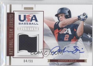 2012 Panini USA Baseball National Team Collegiate National Team Jerseys Signatures [Autographed] #8 - Johnny Field /99