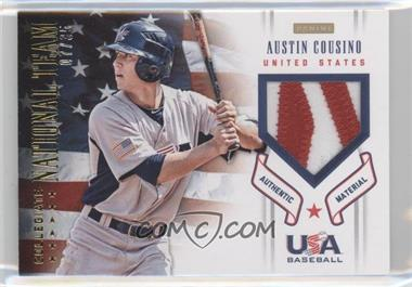 2012 Panini USA Baseball National Team Collegiate National Team Patches #5 - Austin Cousino /35