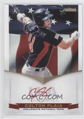 2012 Panini USA Baseball National Team Collegiate National Team Signatures Red Ink #15 - Colton Plaia /25