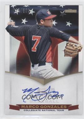 2012 Panini USA Baseball National Team Collegiate National Team Signatures #10 - Marco Gonzales /399