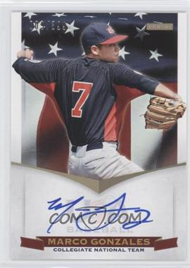 2012 Panini USA Baseball National Team Collegiate National Team Signatures #10 - Marco Gonzales /399