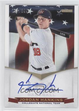 2012 Panini USA Baseball National Team Collegiate National Team Signatures #12 - Jordan Hankins /399