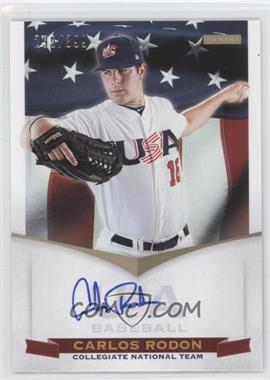 2012 Panini USA Baseball National Team Collegiate National Team Signatures #18 - Carlos Rodon /399
