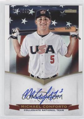 2012 Panini USA Baseball National Team Collegiate National Team Signatures #4 - Michael Conforto /399