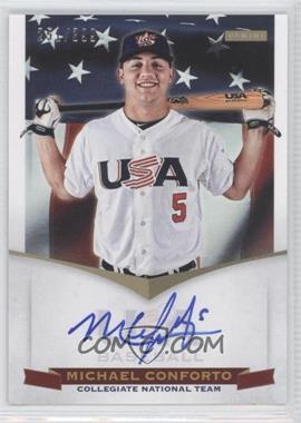 2012 Panini USA Baseball National Team Collegiate National Team Signatures #4 - Michael Conforto /399