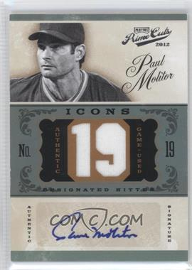 2012 Playoff Prime Cuts - Icons - Jersey Number Signatures [Autographed] #18 - Paul Molitor /19
