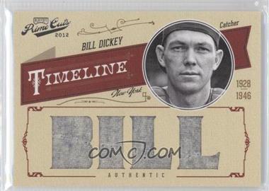 2012 Playoff Prime Cuts - Timeline - Custom Name Materials [Memorabilia] #4 - Bill Dickey /10