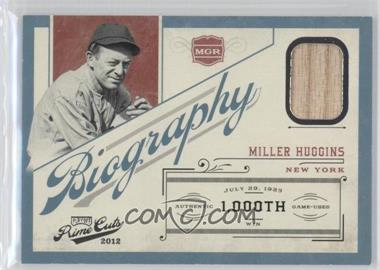 2012 Playoff Prime Cuts Biography #16 - Miller Huggins /99