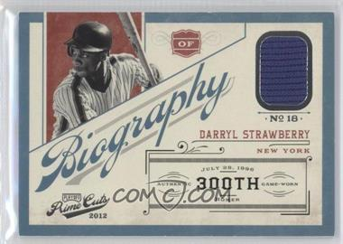 2012 Playoff Prime Cuts Biography #5 - Darryl Strawberry /25