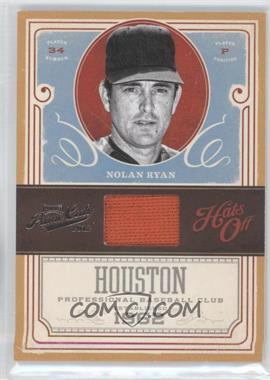 2012 Playoff Prime Cuts Hats Off #5 - Nolan Ryan /99