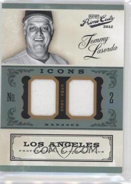 2012 Playoff Prime Cuts Icons Combo Materials #24 - Tommy Lasorda /25