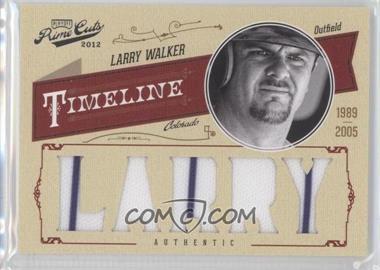 2012 Playoff Prime Cuts Timeline Custom Name Materials [Memorabilia] #30 - Larry Walker /25