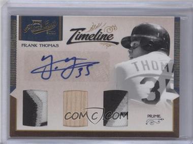 2012 Playoff Prime Cuts Timeline Trios Materials Signature Prime [Autographed] [Memorabilia] #35 - Frank Thomas /5